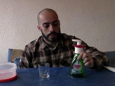 Tutorial: hacer líquido para burbujas y pompas