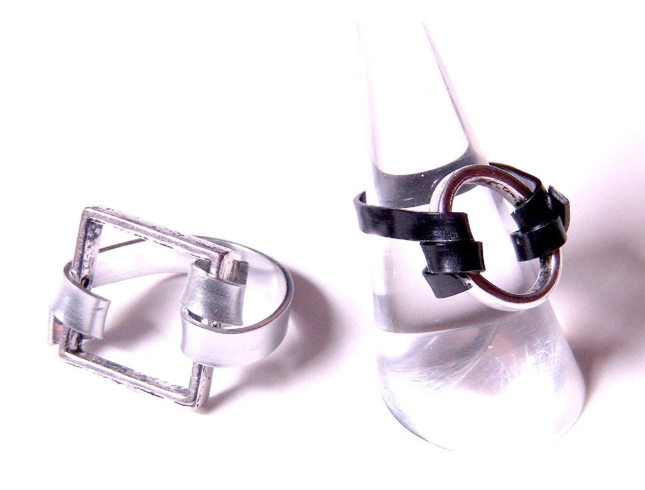 Abalorios Manualidades - Anillo con aluminio plano y entrepieza