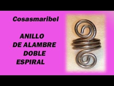 Anillo doble espiral II.