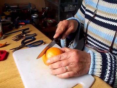 Aretes, zarcillos, pendientes o aros con cascaras de naranjas