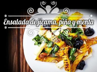 Chef Oropeza Receta:Ensalada de Jícama y Piña