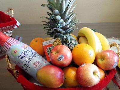 Como decorar una canasta de frutas