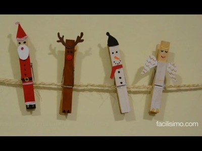 Cómo hacer adornos navideños con pinzas | facilisimo.com