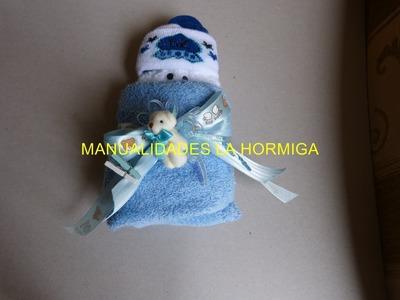 Como hacer bebe en toallas para recordatorio de baby showers No.164 Manualidadeslahormiga