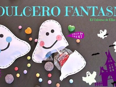 Cómo hacer Dulceros para Halloween, Dulcero Fantasma, Manualidades para Halloween