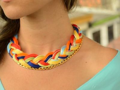 Como hacer un collar tejido con cadena  | JPaola