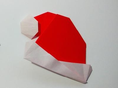 Como hacer un gorro de papel navideño sencillo