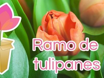 Cómo hacer un ramo de tulipanes