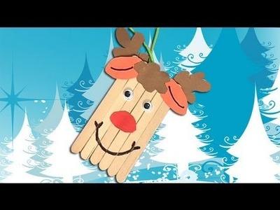 Cómo hacer un reno de Papa Noel, manualidades de Navidad
