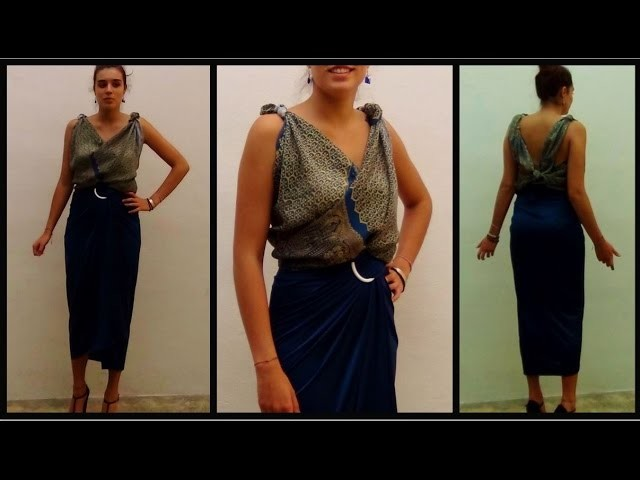 Cómo hacer una preciosa blusa sin coser   Stitch free blouse