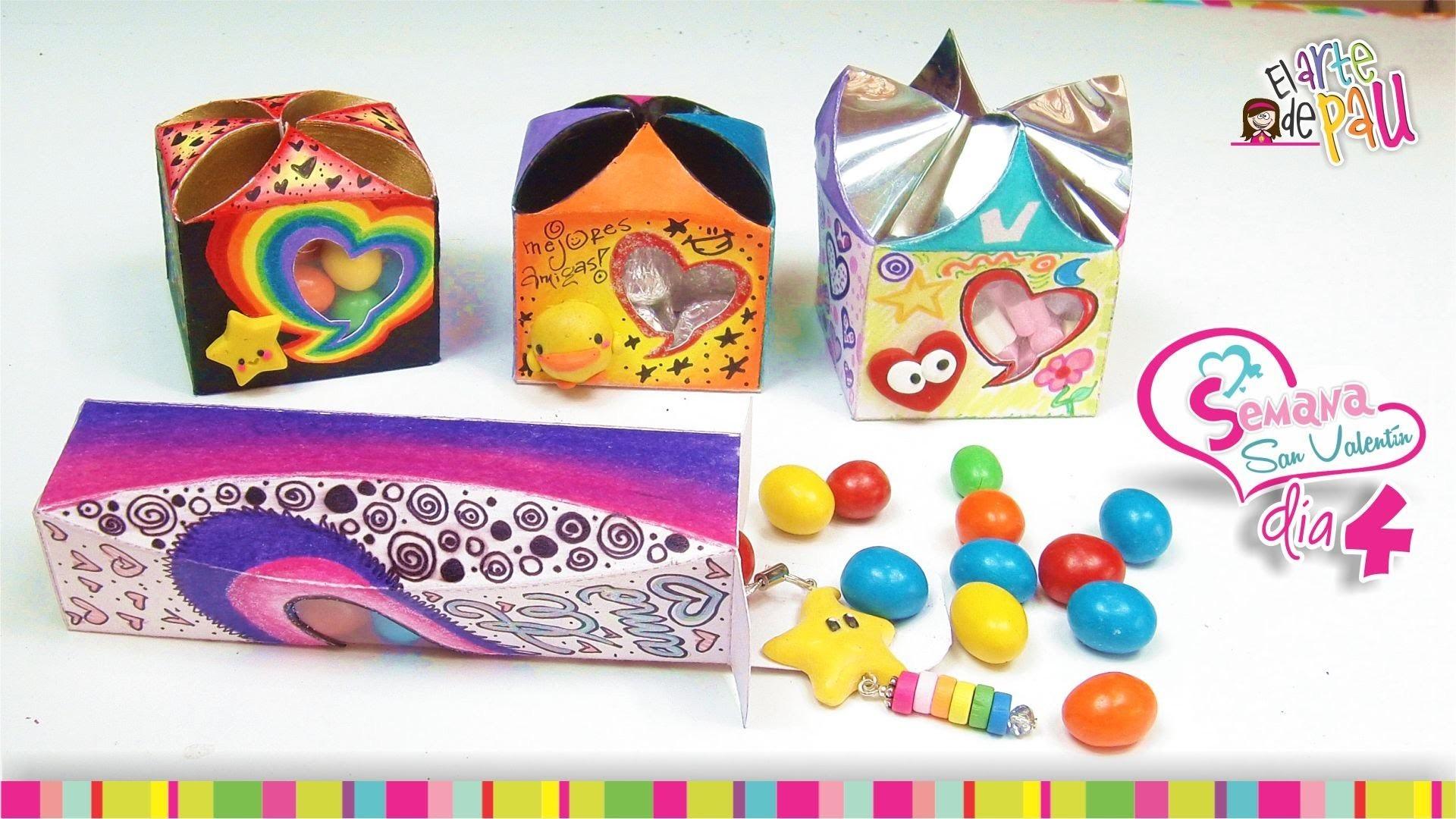 (Day 4) DIY Personalized Valentine's Day gift box. (Día 4) Cajitas de regalo para San Valentín