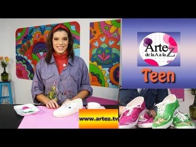 Decora tus zapatillas con coloridos diseños