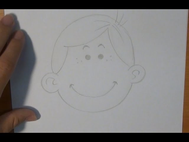 Dibujar una cara sonriente - Draw a smiley face