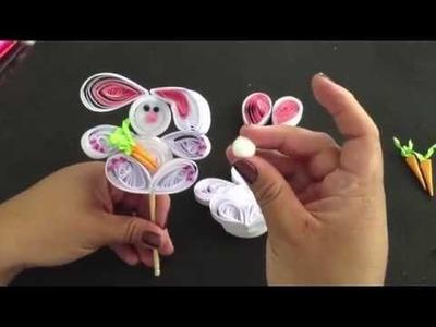 (DIY) Conejito de filigrana de Papel