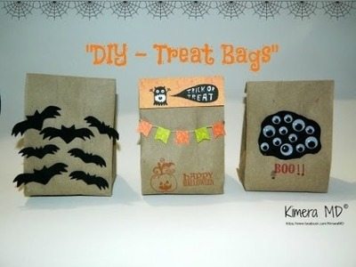 DIY - Treat Bags de Papel Kraft (Halloween)