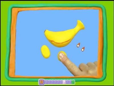 Manualidades con Plastilina: plátano de plastilina