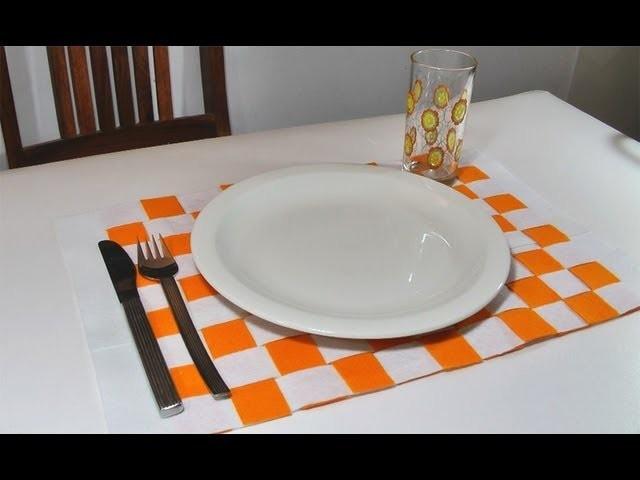 Manualidades para la casa: Individual posa platos - Manualidades para todos