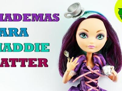 Manualidades para Muñecas: Tutorial de Diademas para Madeline Hatter - Fácil
