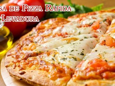 Masa de Pizza Rapida Sin Levadura Natural