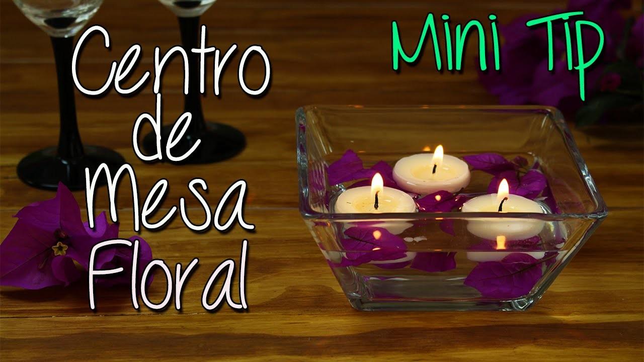Mini Tip #11 - Centro de Mesa con Flores y Velas flotantes - Aromatizante y en 5 Min