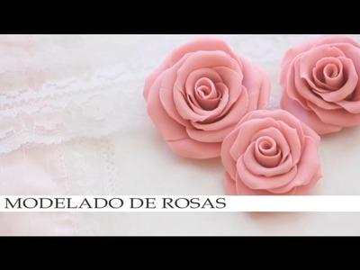 MODELADO DE ROSAS - para plastilina, barro, ceramica fria o fondant.