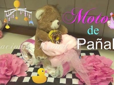Moto de Pañales Regalo o Centro de Mesa Baby Shower.How to Make A Motorcycle Diaper