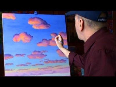Pintar Nubes Con Acrilicos Leccion 2 de pintura arte
