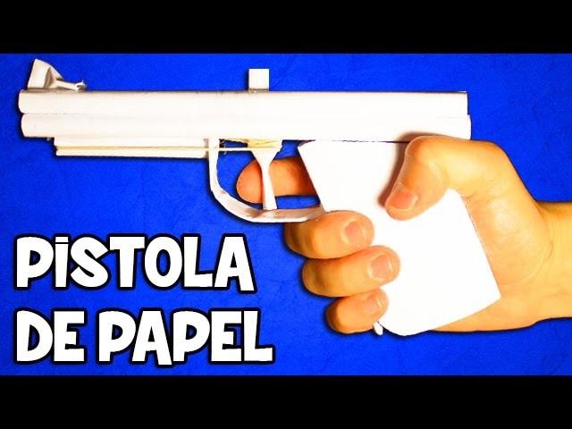 Pistola de Papel que Dispare | Pistola Casera Fácil y Potente