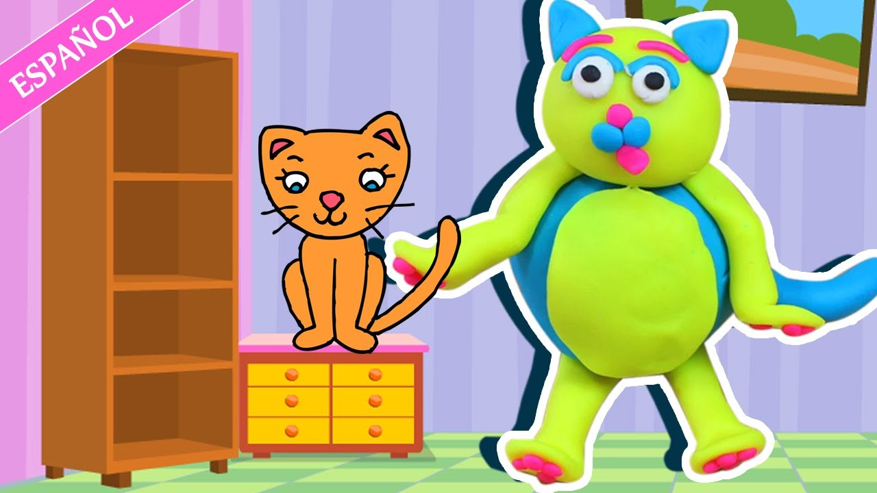Play doh – Cat | Gato de Plastilina | Halloween Play Doh (How To) - Spanish