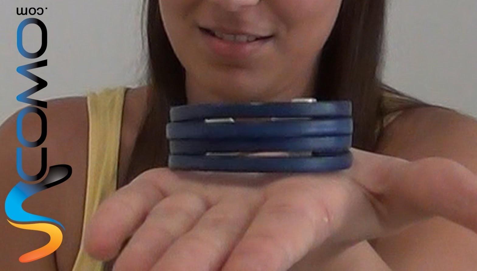 Pulsera de cuero con 4 tiras para mujer