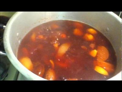 Receta de ponche navideño con frutas tradicional rico y facil angycrisjavi