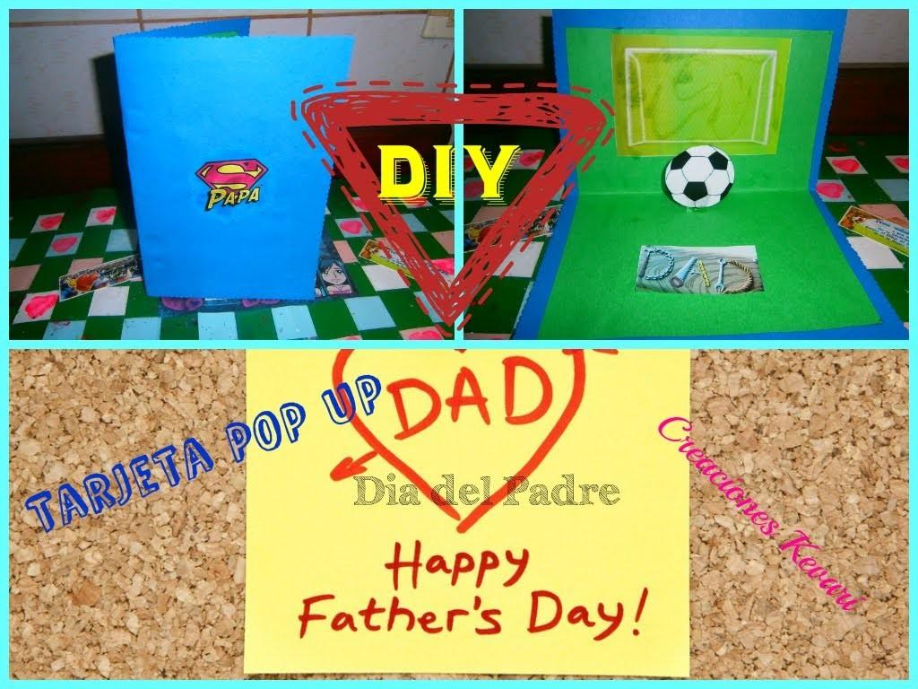 Tarjeta Para el Dia del Padre Pop Up.HOW TO MAKE  POP-UP CARD