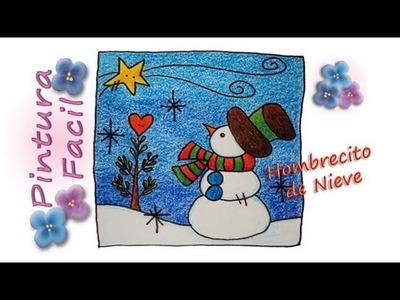 Tarjetas de Navidad para Colorear *Coloring Greeting Cards* Tarjeta de Navideñas Pintura Facil