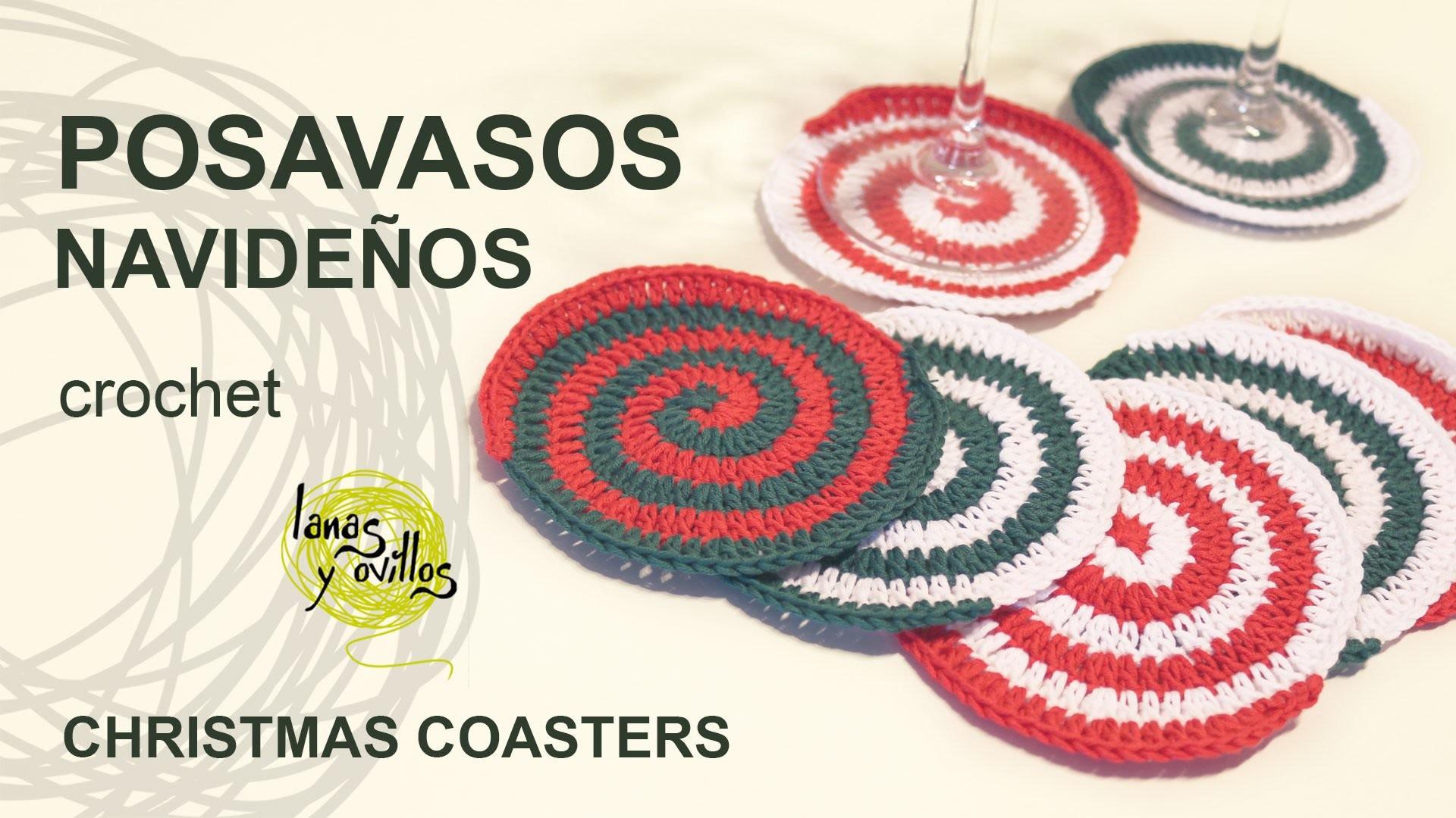Tutorial Posavasos Espiral Navideños Christmas Coasters