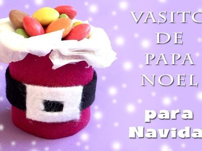 Vasito de dulces de Papa Nöel I Manualidades de navidad
