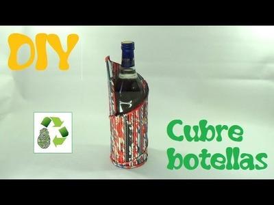 169. DIY CUBRE BOTELLAS (RECICLAJE DE PAPEL)