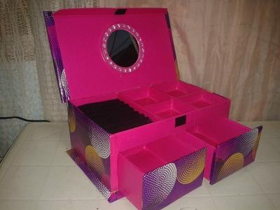 Alhajero hecho con caja de zapatos