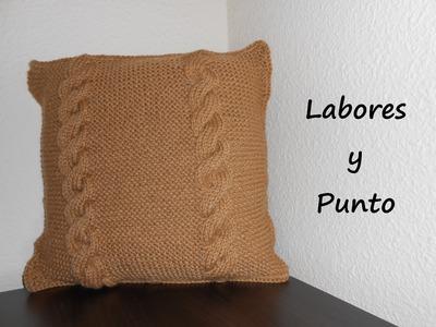 Aprende a tejer un cojin o almohada en dos agujas. Parte 2 de 2