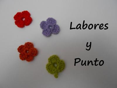 Aprende a tejer una flor pequeña ganchillo