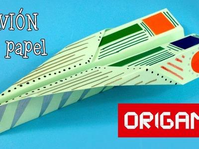 Avión de papel fácil - Papiroflexia. Origami