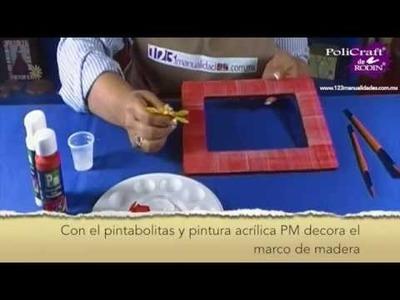 ¿Cómo decorar un marco para fotos? www.123manualidades.com.mx