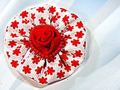 Cómo hacer flores de tela, How to make fabric flowers.