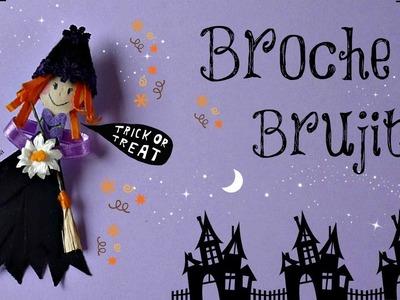 Cómo hacer una Brujita, Complementos para Halloween, Broche Brujita, Cute Witch