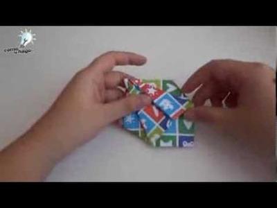"""Cómo hacer una """"caja estrella"""" con papel"""