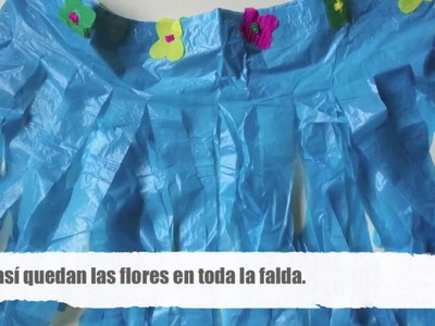 Cómo hacer una falda hawaiana