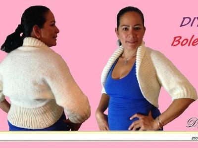 Cómo tejer bolero o chaleco con dos agujas.