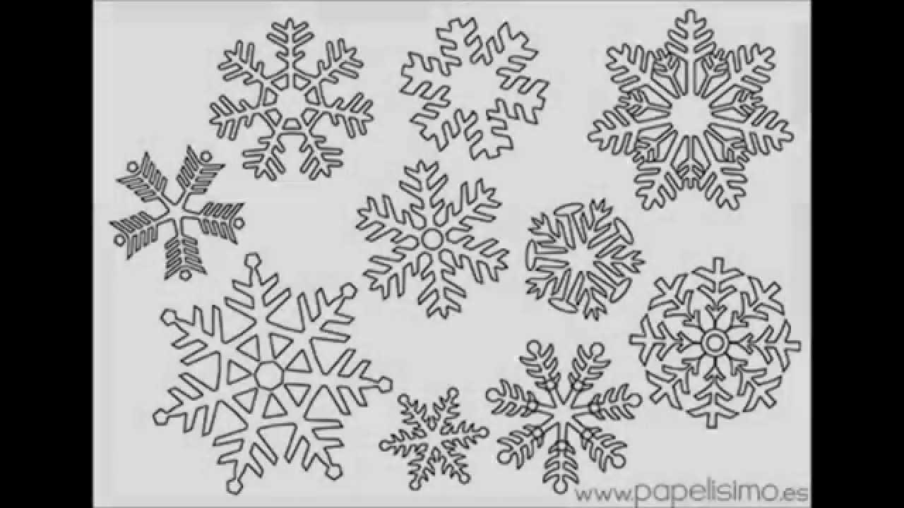 Copos de nieve para colorear (para niños)
