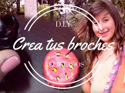 D.I.Y Broches reciclados.