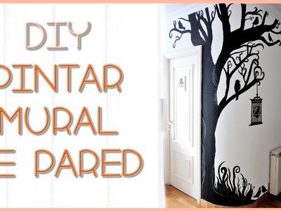 DIY Arbol mural de pared | Silvia Quiros