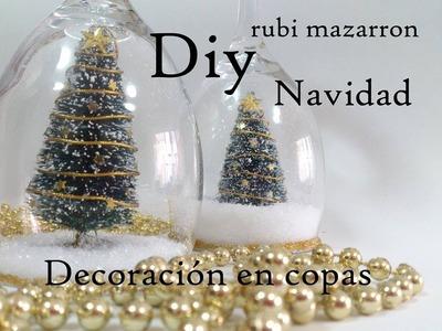 Diy  Copas decoradas de navidad. Dedicada a Gema